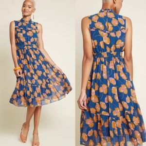 ModCloth | NWOT Dare to Discover Floral Midi Dress